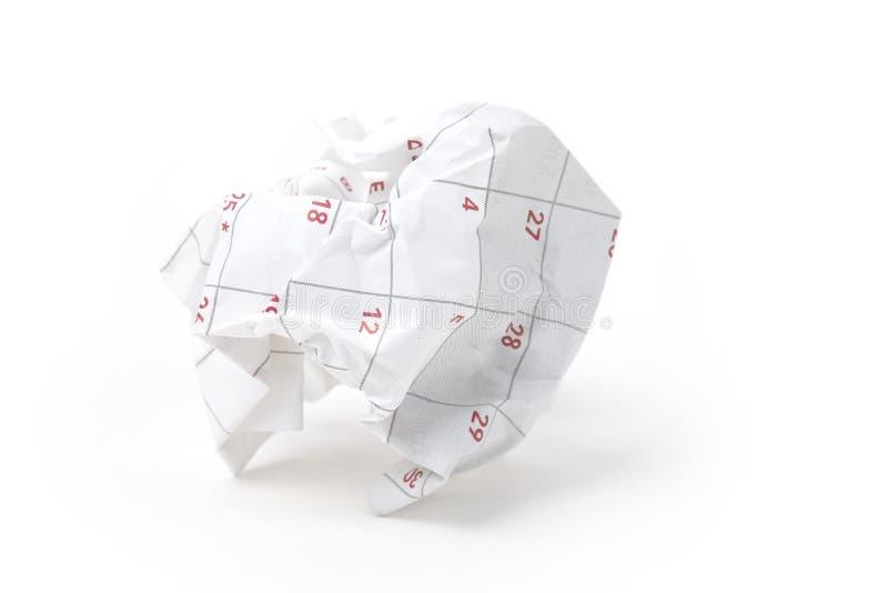 球日历纸张 免版税库存图片