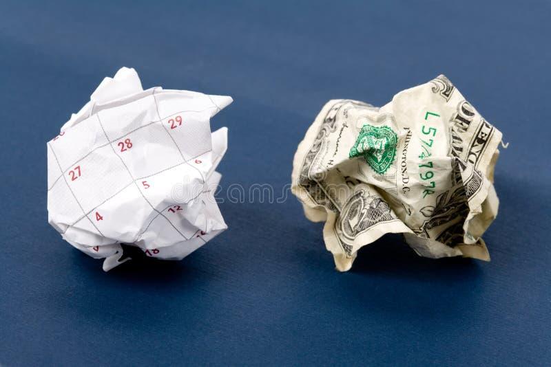 球日历美元纸张 免版税库存照片