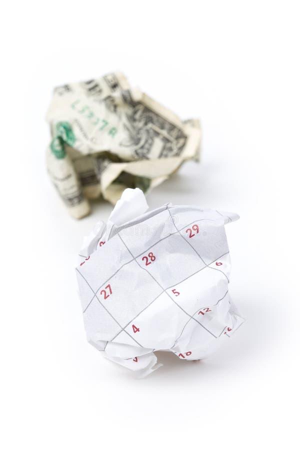 球日历美元纸张 免版税库存图片