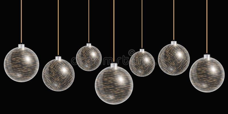 球是能圣诞节装饰节假日使用的项目季节性 库存例证