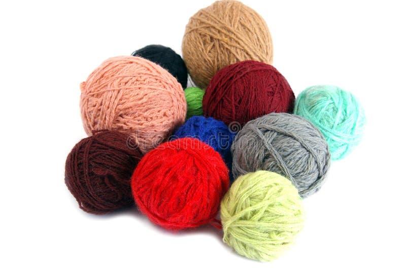 球杂色羊毛制 库存照片