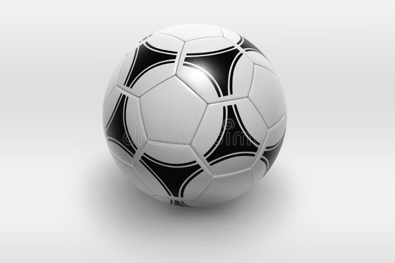 球查出的足球 向量例证