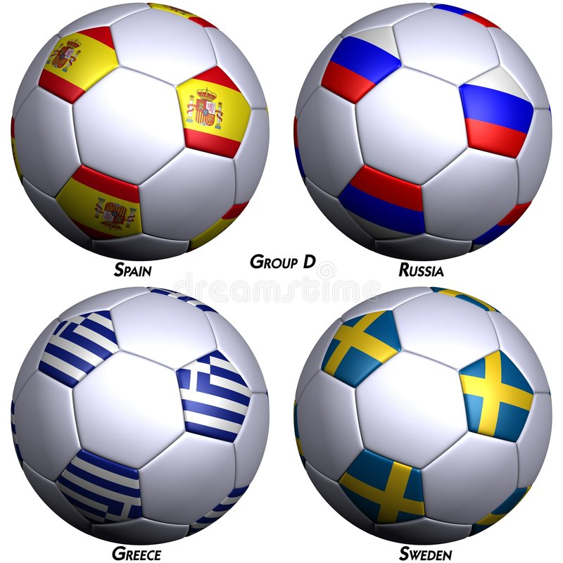 球标记四足球 库存例证