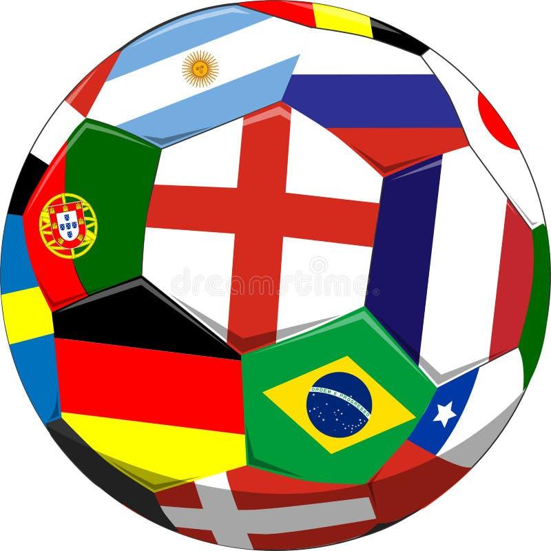 球标记足球 皇族释放例证