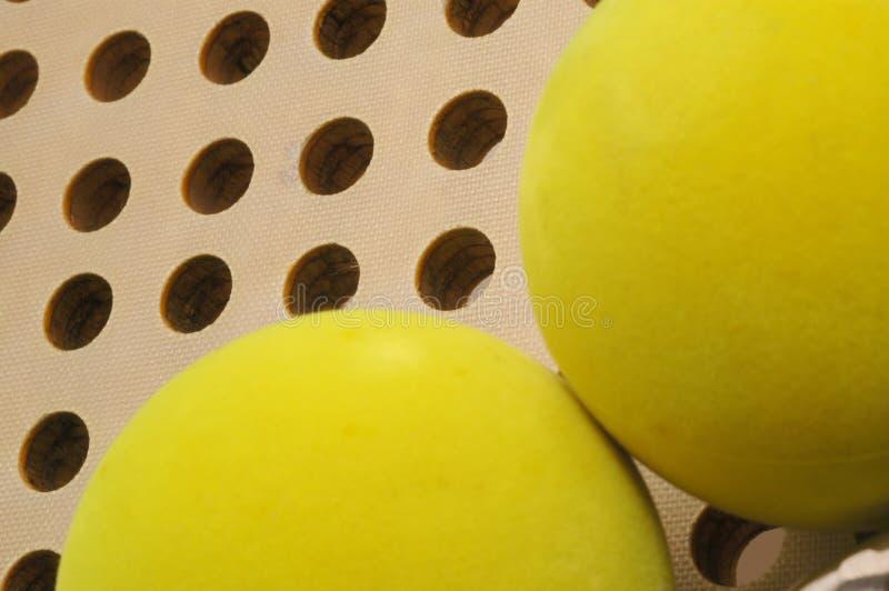 球桨平台网球 图库摄影