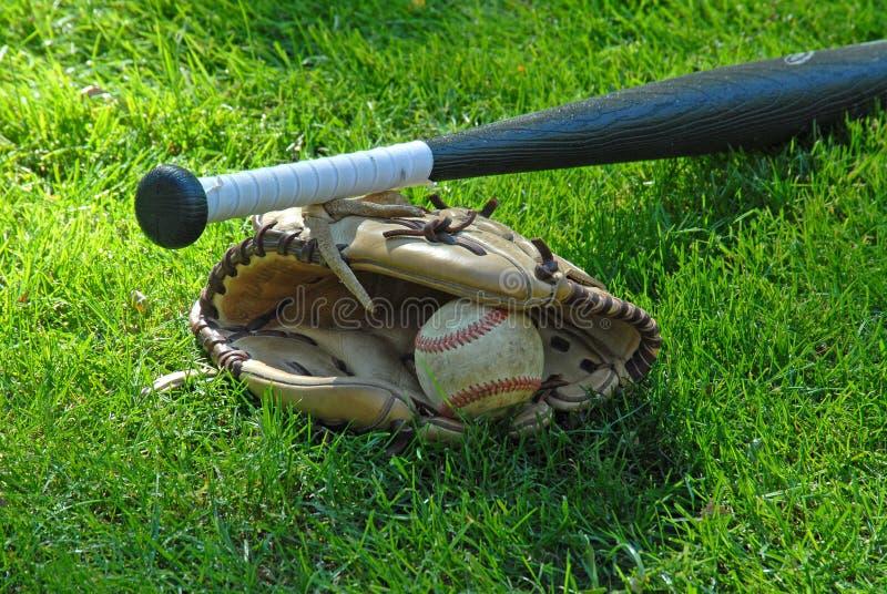 球棒手套 库存照片