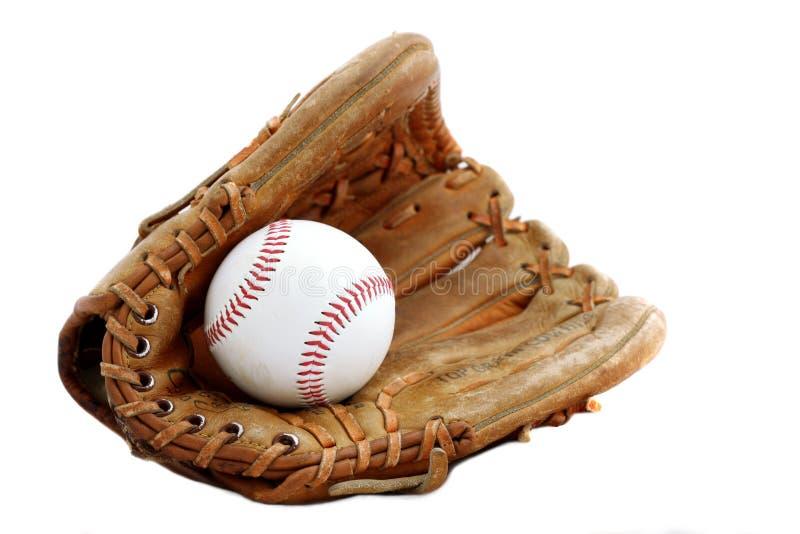 球棒球手套 免版税图库摄影