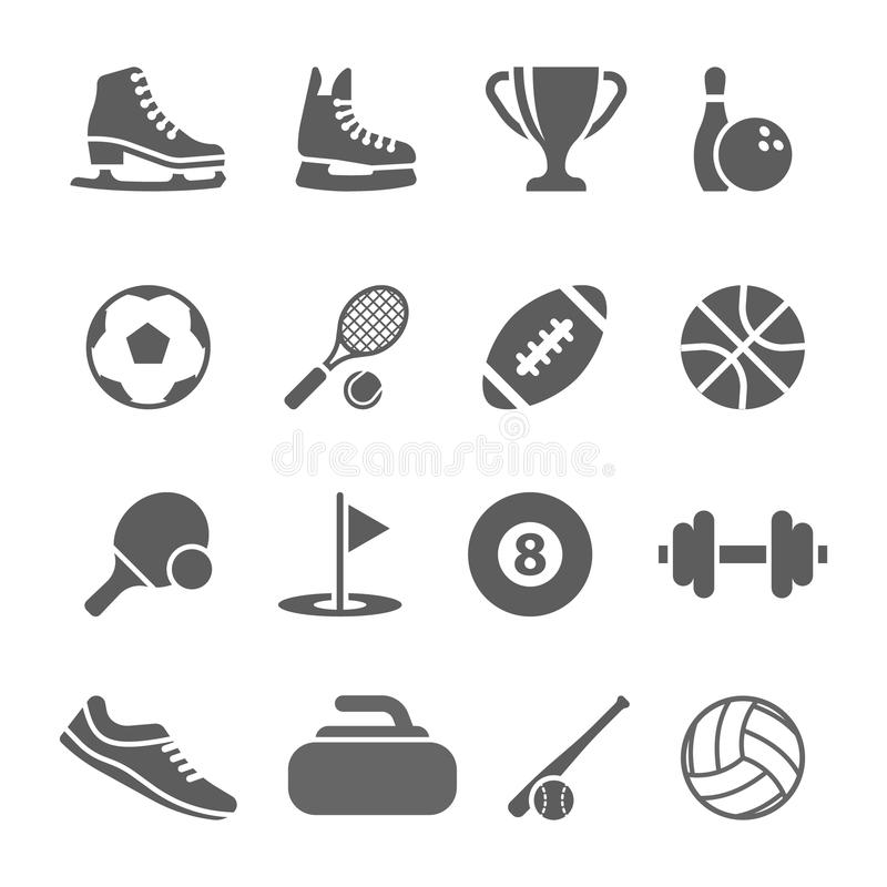 球橄榄球图标球员剪影体育运动二 库存例证