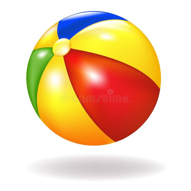 球海滩向量 库存例证