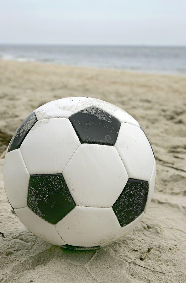 球海滩足球 免版税库存图片