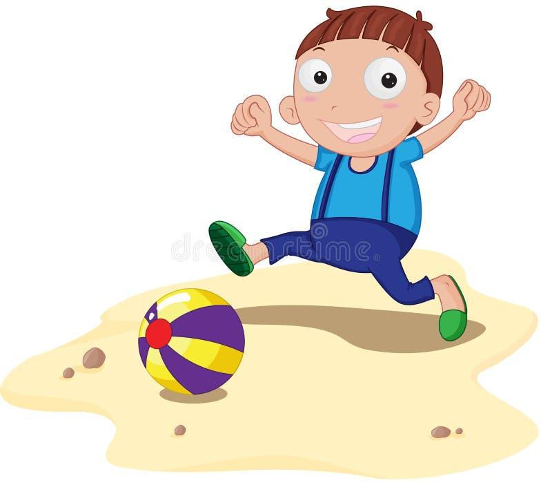 球海滩 向量例证