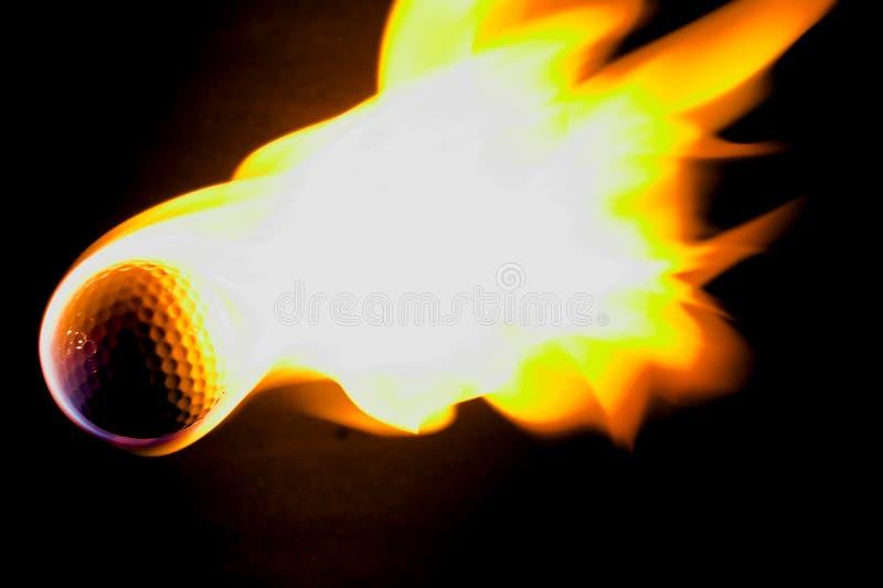 球火焰状高尔夫球 库存图片