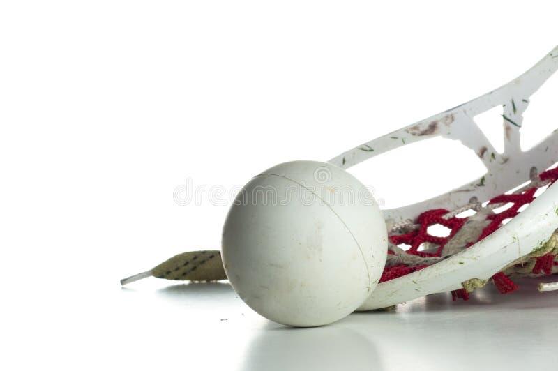 球灰色顶头曲棍网兜球 免版税图库摄影