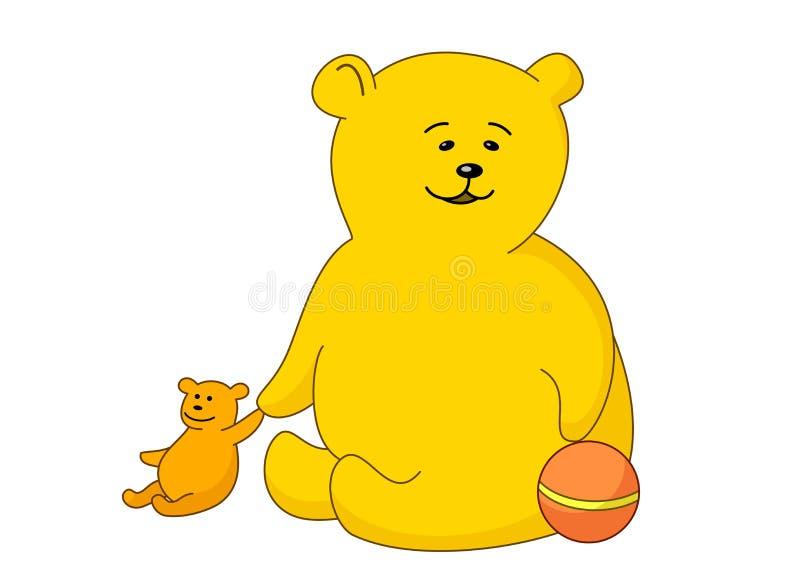 球熊女用连杉衬裤玩具 向量例证