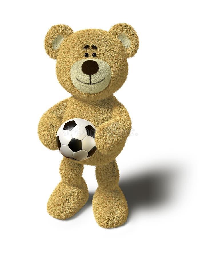球熊藏品nhi足球 向量例证