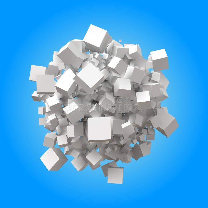 球状堆任意立方体 向量例证