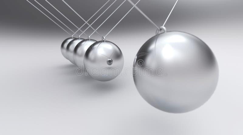 球状银色摆锤 向量例证