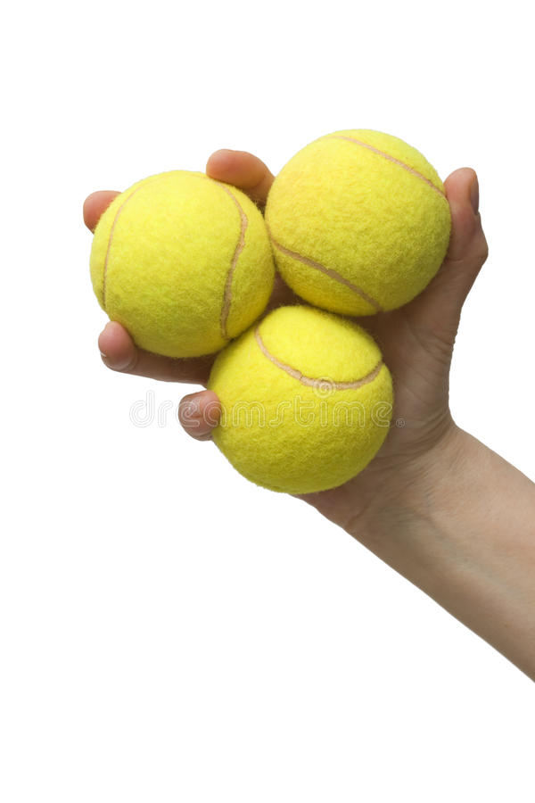 球现有量藏品网球三 免版税库存照片