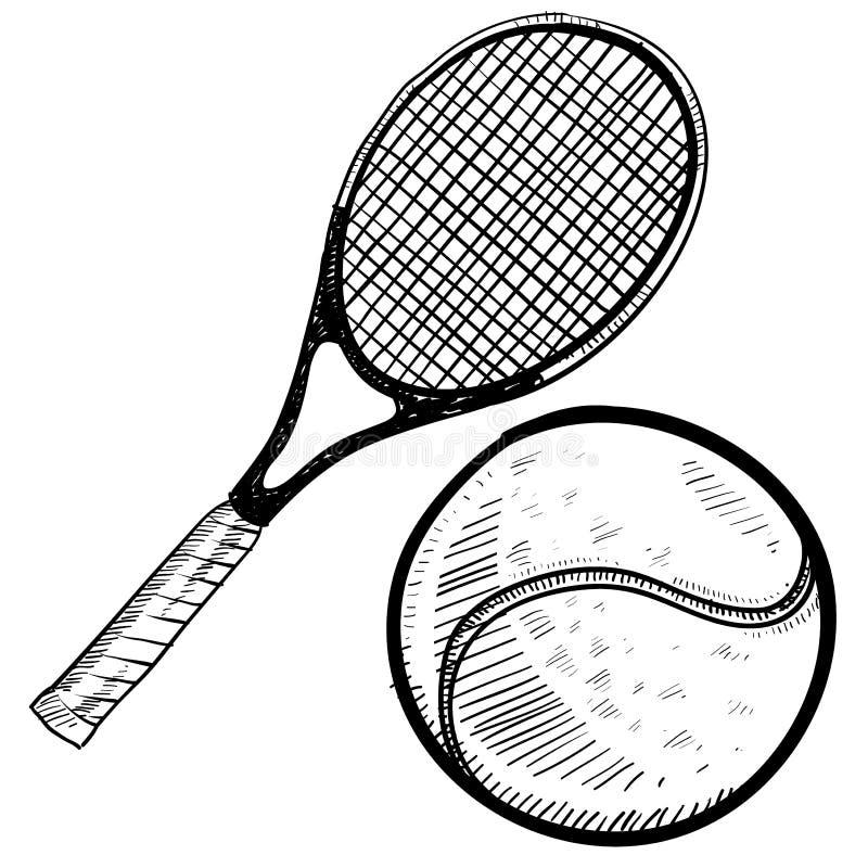 Download 球球拍草图网球 向量例证. 插画 包括有 净额, 鞋带, 淘汰赛, 体育运动, 赢取, 竹子, 使用, 小组 - 22354514