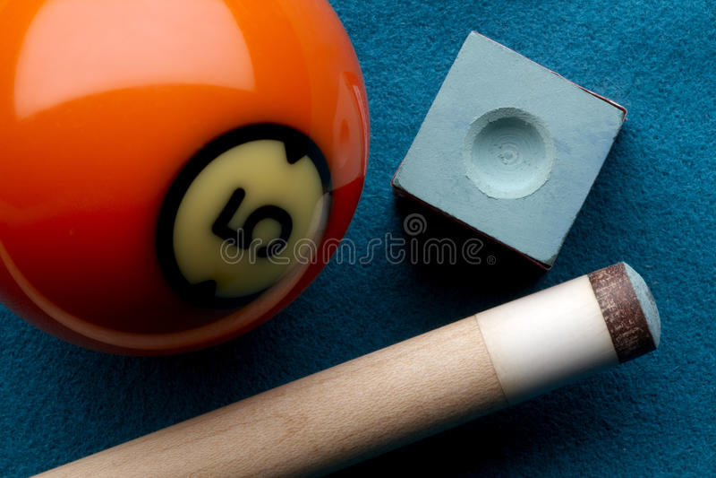 球白垩提示池杆 免版税库存图片