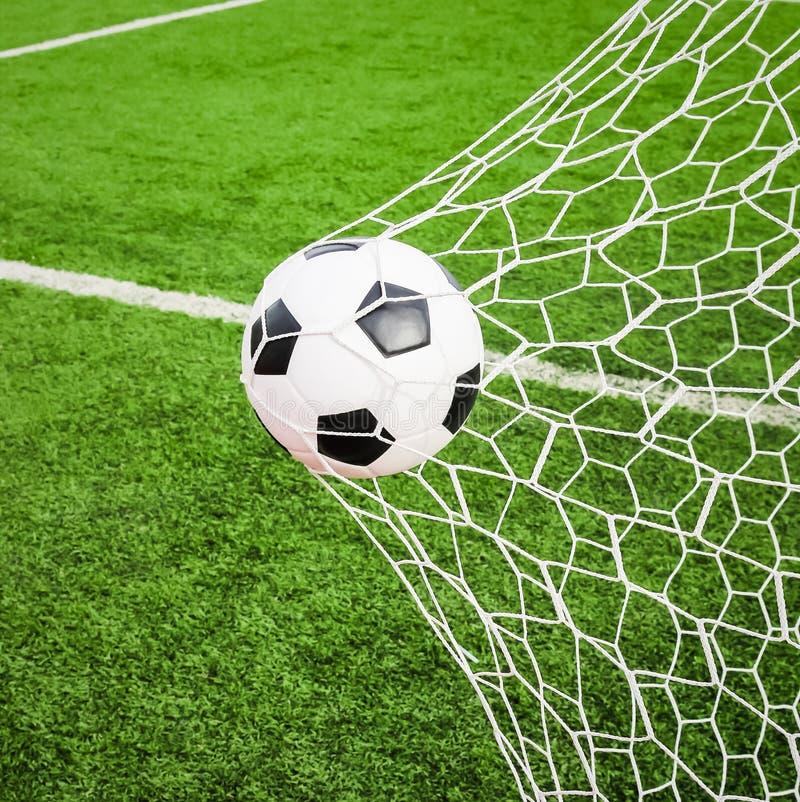 球目标净额足球 免版税库存照片
