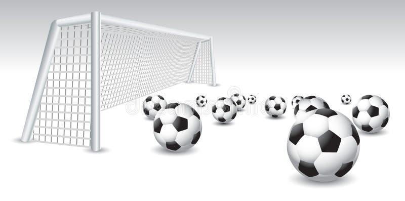 球目标查出的足球 向量例证