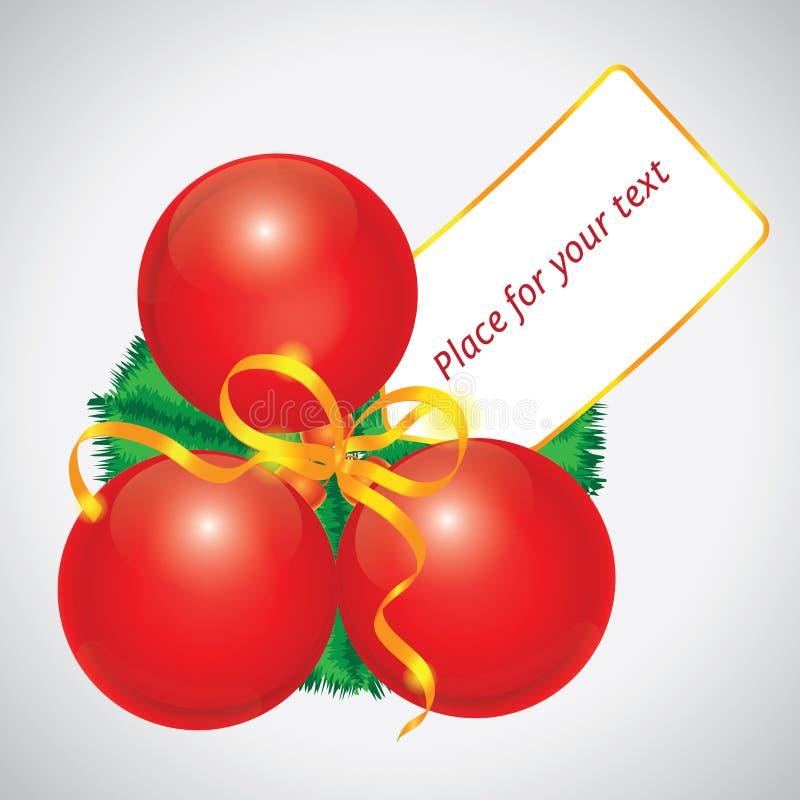 球看板卡圣诞节红色 皇族释放例证