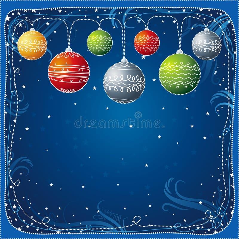 球看板卡圣诞节vec 库存例证