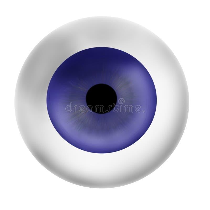 球眼睛 库存例证