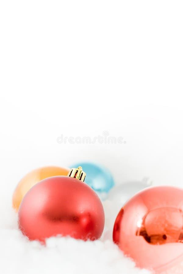 球空白圣诞节的云彩色 库存图片