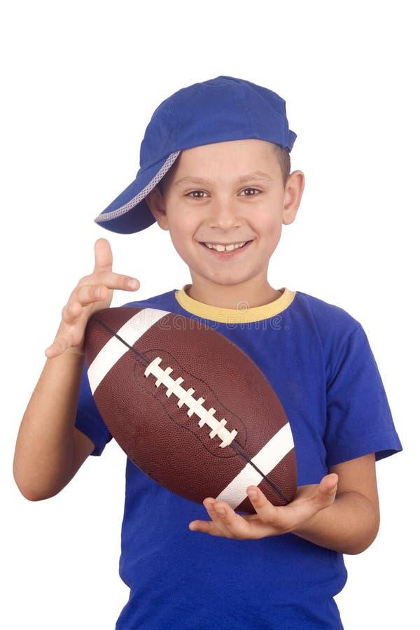 球童橄榄球年轻人 库存照片