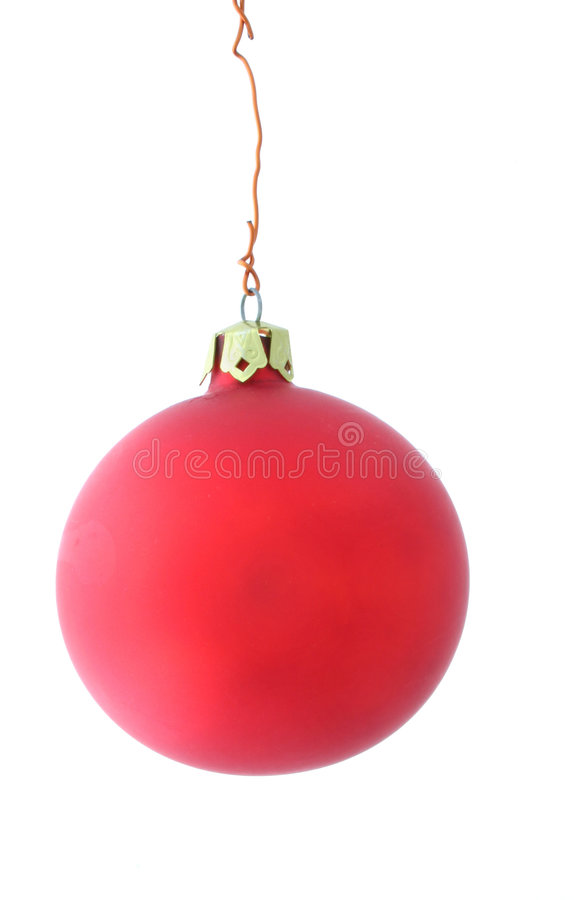 球简单圣诞节的席子 免版税库存照片