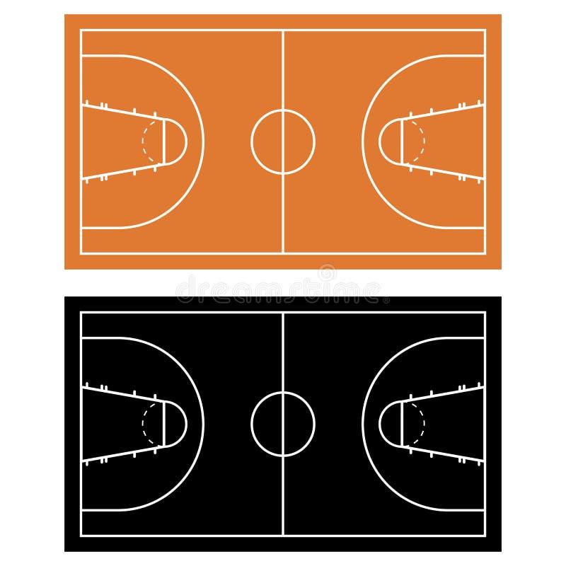 球篮子现场 库存例证
