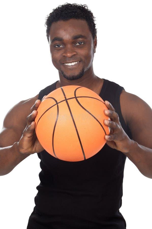 球篮球年轻人 免版税库存照片