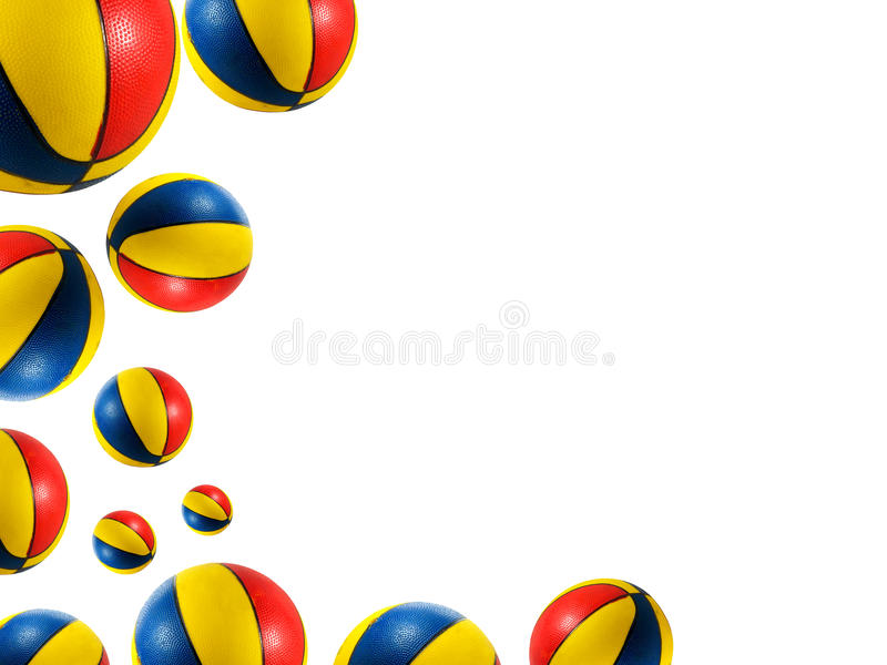 球篮球海滩 库存照片