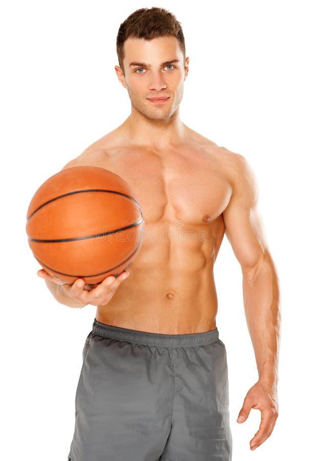 球篮球英俊的藏品球员白色 库存照片