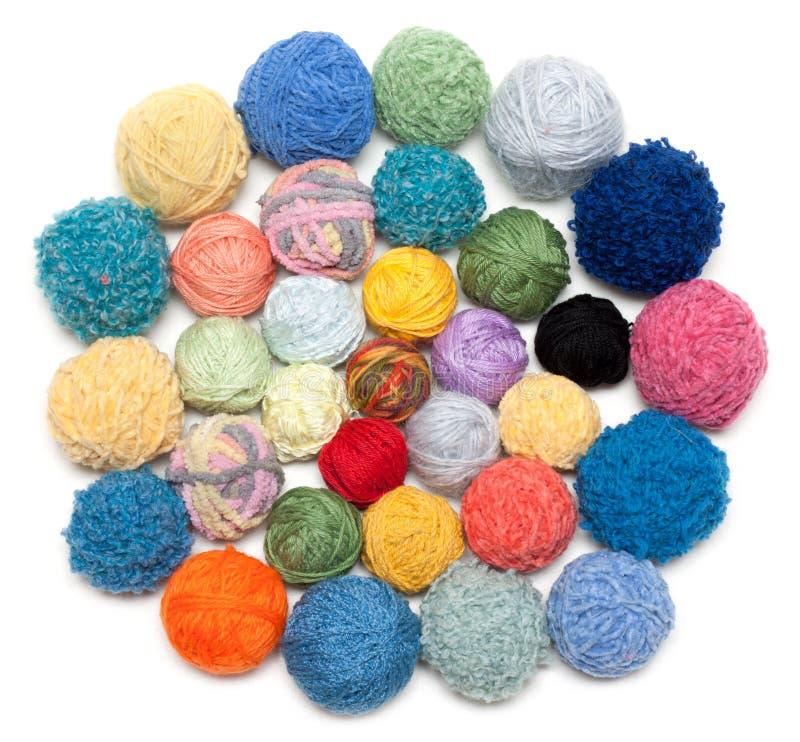 球编织的线程数 图库摄影