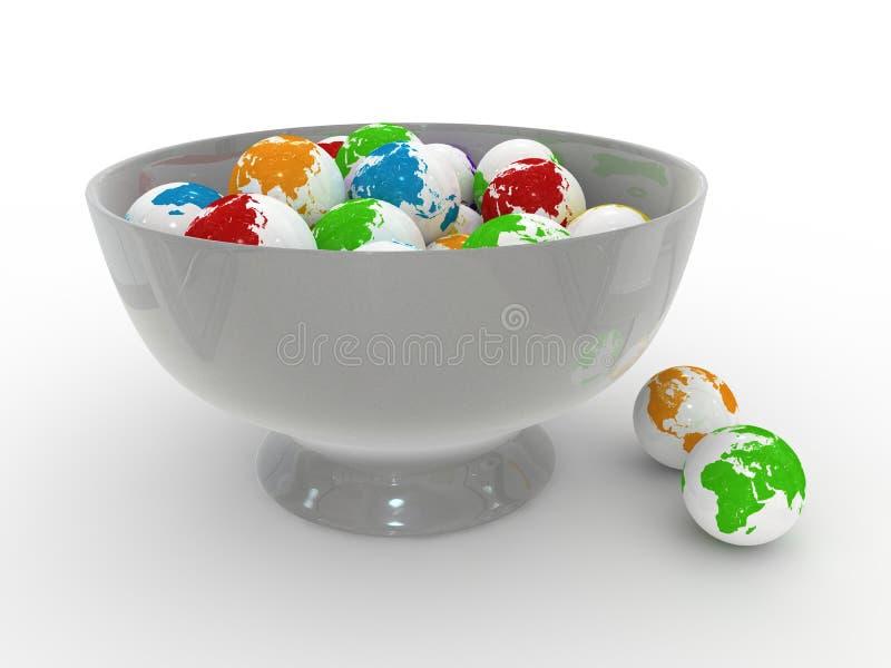 球色的地球 免版税库存照片