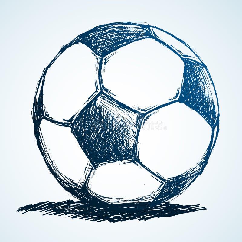 球草图足球 向量例证