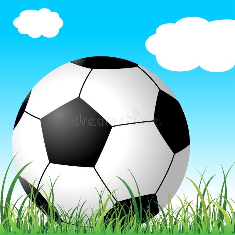 球草足球 向量例证