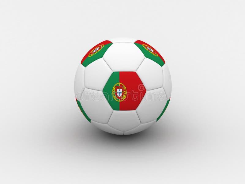 球葡萄牙足球 库存例证