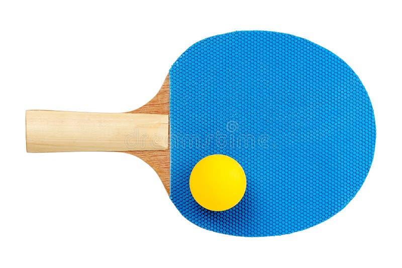 球蓝色桨乒乓切换技术天空乒乓球 免版税库存图片