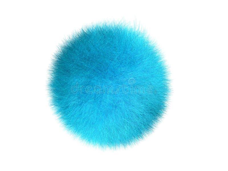 球蓝色毛皮 库存照片