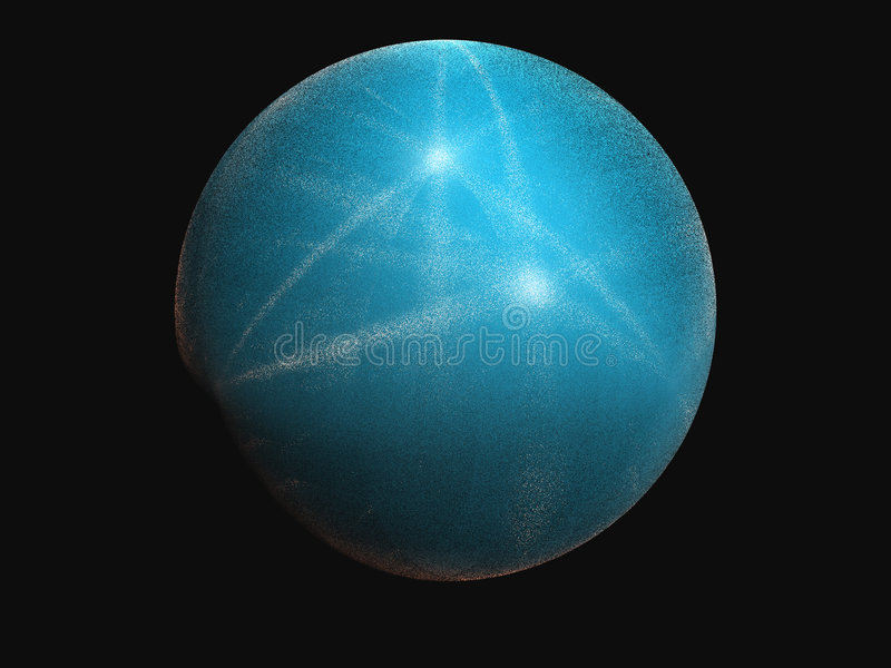 球蓝色 库存例证