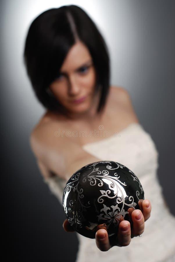 球藏品魔术银色妇女 免版税库存照片