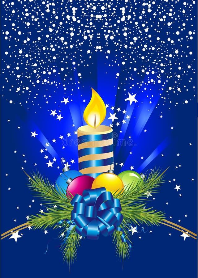 球蜡烛圣诞节针 向量例证