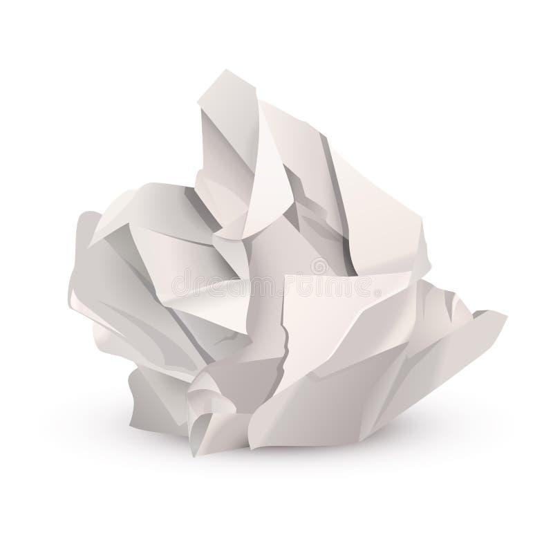 球被弄皱的纸张 皇族释放例证