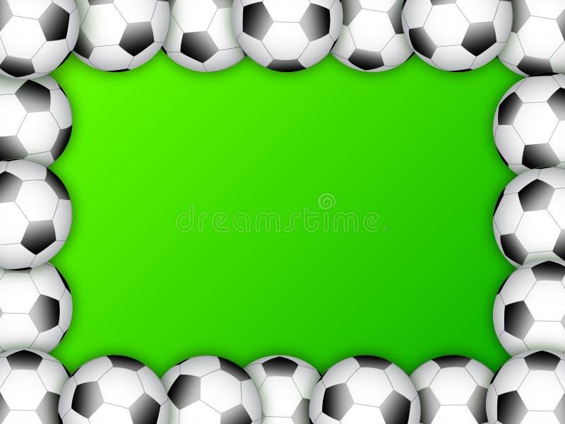 球设计框架足球模板 库存例证