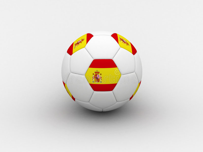 球足球西班牙 向量例证