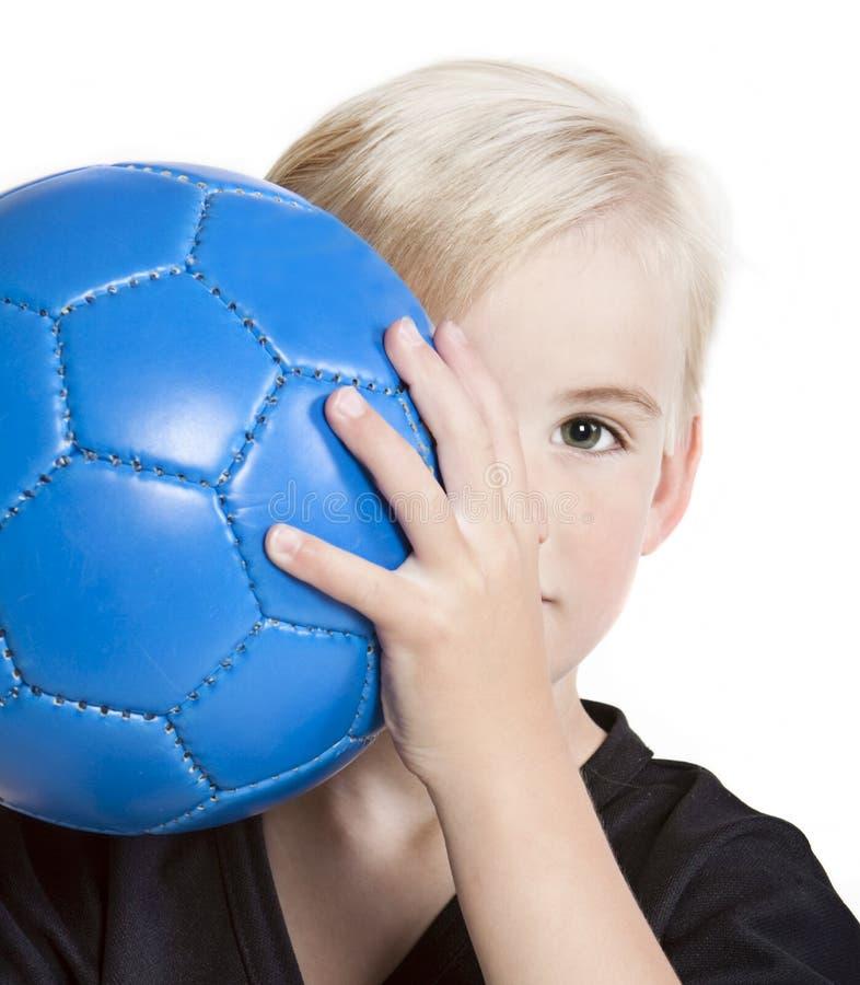 球足球青年时期 免版税库存照片